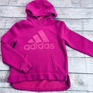 Girls XL 16 Adidas pink hooded sweatshirt